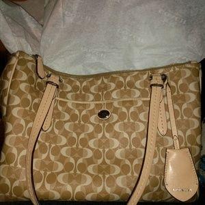 Authentic Coach Payton Dream C double zipper purse